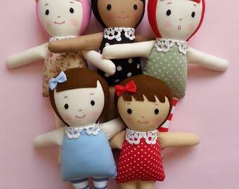 Customized Storybook Ragdoll - handmade custom doll plush toy