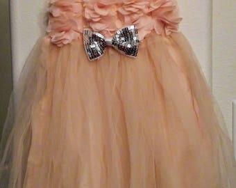 Peach Pink Tutu Dress