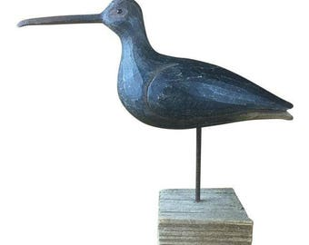 Hand Carved Shorebird c.1930s