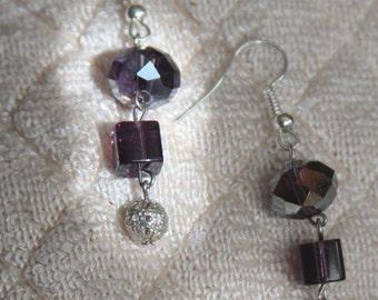Glass Bead Dangle Earrings