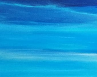 Seascape, The Sky's the Limit, Panoramic, vertical seascape turquoise, beach