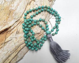 108 mala necklace, mala beads, tassel necklace, meditation beads, japa mala, 108 beads, yoga gift, gemstone necklace, perfect for  SELF LOVE