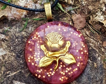 Rosey Sparkles Orgone Energy Pendant Necklace
