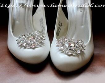 2pcs Crystal Rhinestone Shoe Clips,Wedding Shoe Clips, Bridal Shoe Clips, Rhinestone Shoe Clips, Clips for Wedding Shoes, Bridal Shoes