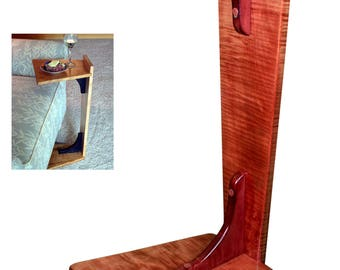 Perching Table - Turquoise Horse Inlay on Curly Maple