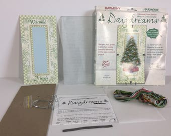 Cross Stitch Kit 72753 Daydreams, Harmony Under Glass, Counted Cross Stitch, Christmas Tree Welcome, Dimensions, Framed Cross Stitch Kit