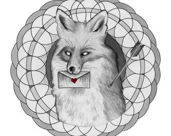 Fox and Arrow Print