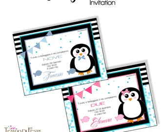 PENGUIN printable invitation