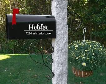 Mailbox decal, wedding gift, address decal, mailbox sticker, mailbox numbers, mailbox address, Custom Mailbox, Address Vinyl, Curb Appeal,