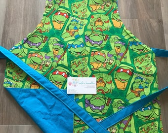 Kids turtles apron, made from licensed fabric.