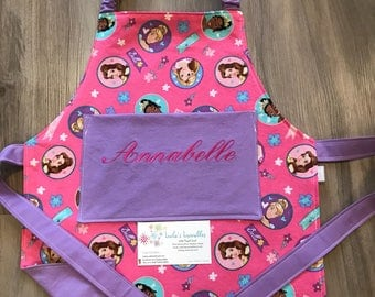 Kids princess apron, made from licensed fabric.