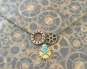 Steampunk skull and COGS