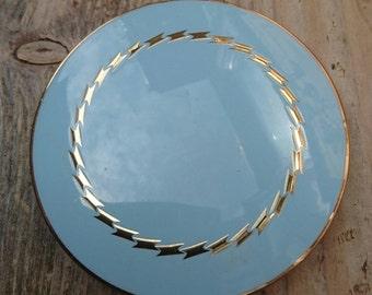 Vintage blue Stratton compact