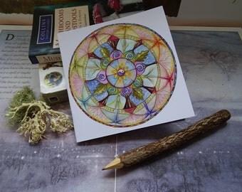 Lifeline Mandala Square Notebook