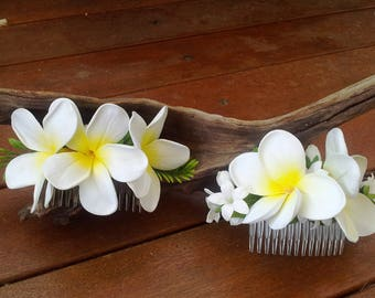 Plumeria Frangipani Wedding Hair Comb