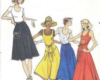 1970s Butterick 4681 Betsey Johnson Misses' Dress, Skirt & Applique Transfer Sewing Pattern UNCUT
