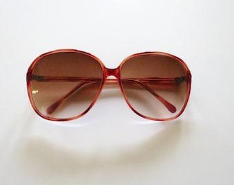 70s Sunglasses 80s Oversized Large Eyeglasses Vintage Glasses Frames 1980s 1970s Red Burgundy Stranger Things Barb Glow Cosplay Costume