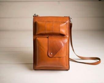 Leather Backpack Satchel - Laptop Bag - Shoulder Bag - Daypack - School Bag - Handmade Leather Bag - Leather Messenger - Men Backpack