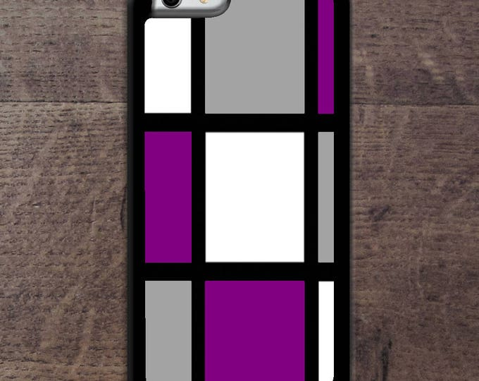 Asexual flag colors Mondrain inspired phone case