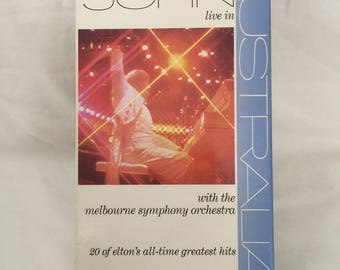 Elton John live in Australia VHS Tape Concert Video with the Melbourne Symphony Orchestra VHS Hi Fi Stereo Special Video Collector's Edition
