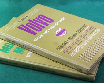 Vintage pair of Glenn's Volvo & MG repair and tune up guide Chilton # 1343 and 1434 Hardcover.