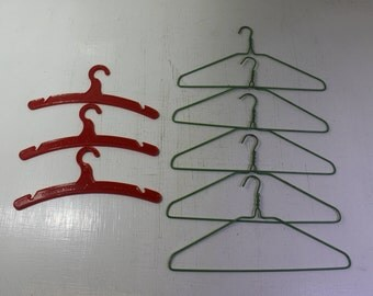 Eight vintage Doll clothes hangers - Dolly's Pride