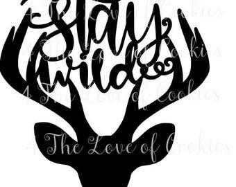 Stay Wild Cookie Stencils, Mesh Stencils, Silk Screen Stencil Cookies,  Christmas Cookie Stencil