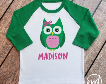 St Pattys Day Shirt For Girl St. Pattys Day Shirt, Toddler Girl St. Patricks day Shirts, St Patrick Shirts Toddler Girl, Girls Owl Shirt
