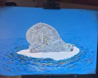 Abstract Bolar Bear Painting