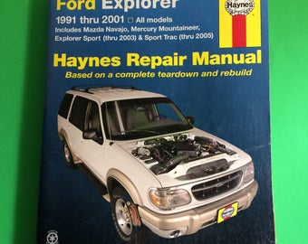 1991-2001 Ford Explorer + Other Models 2003-05 Haynes Auto Repair Manual Book 36024