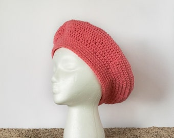 Ready to Ship | Pink Beret | Slouch Fashion Hat | Gifts for Her |