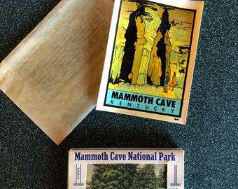 Mammoth Cave National Park vintage cards and sticker