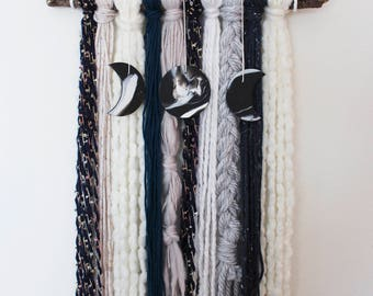 Moon Phase Yarn Wall Hanging - Poseiden