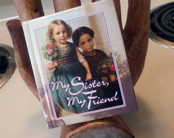 My Sister My Friend miniature gift book, Sister book, Sister gift, Miniature poetry book
