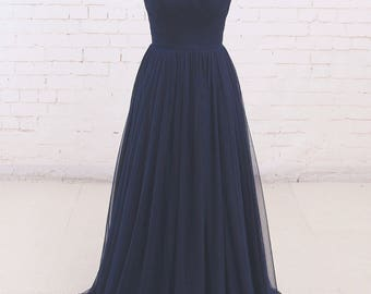 Royal Blue Formal Dress Floor-Length Dress Party Dress Formal Gown A Line Evening Gown with Illusion Neckline Prom Dress with Cap Sleeves