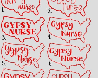 Gypsy Nurse vinyl decal