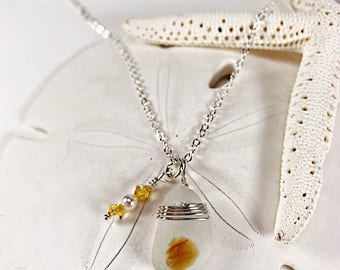 Sea Glass Jewelry|sea glass jewelry|sea glass necklace|Sea Glass Necklace|yellow sea glass necklace|seaglass necklace|gift for her|sterling