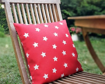 """Red White STARS Decorative Pillow Cover - American Flag, Cushion case - Home - 16"""" x16"""" - living room -  Spring Summer Home Decor, Christmas"""