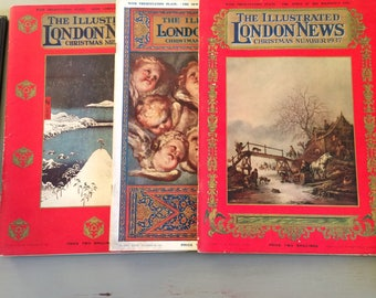 The ILLUSTRATED LONDON NEWS - Christmas 1935, 36, and 37