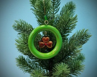 Holiday Ornament - Rustic Shamrock