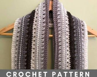 Men's Textured Scarf, Crochet Pattern PDF, Double Crochet Scarf, Easy, Beginner, Photo Tutorial, Gift for Him, Teacher Gift, Neutral, Cakes