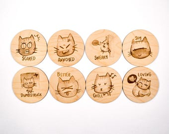 Cat Coasters (set 2)