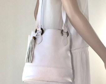 Portofino Off White Leather Purse, Shoulder Bag