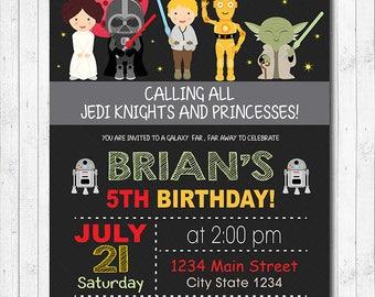 Star Wars Invitation, Star wars Invite, Star wars birthday, Star wars Party, Jedi Birthday, Jedi Party, Digital Printable Invitation