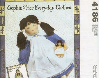 McCall's 4186 Sophie and Her Everyday Clothes Doll Sewing Pattern
