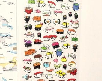 Cute Sushi Stickers Sheet