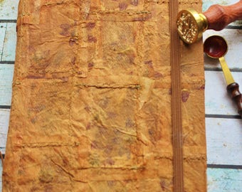 Hand covered journal, vegan friendly,Handmade Paper