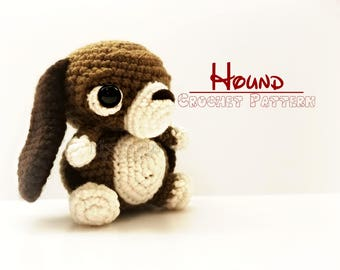 Crochet Hound Dog Pattern  - PATTERN ONLY