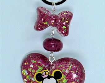 Cute Magenta Minnie Key Chain/ Bag Charm