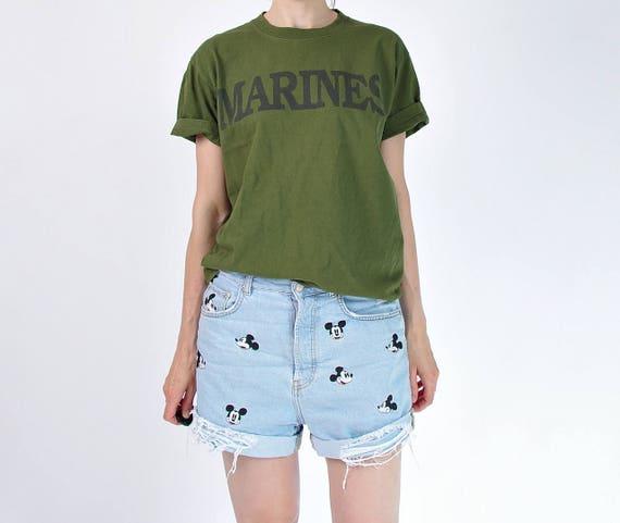 SALE - Vintage Marines army t-shirt / size S-M-L